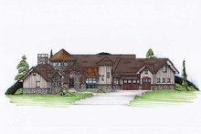 House Plan Design - Country Exterior - Front Elevation Plan #5-417