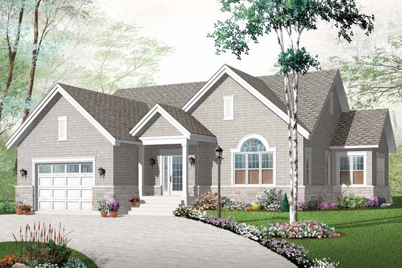 Dream House Plan - Craftsman Exterior - Front Elevation Plan #23-2432