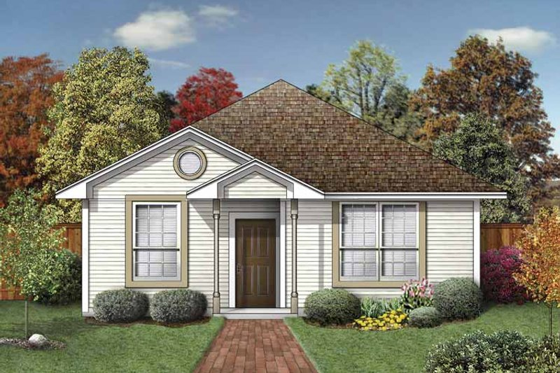 House Plan Design - Colonial Exterior - Front Elevation Plan #84-743