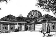 European Style House Plan - 3 Beds 2 Baths 1692 Sq/Ft Plan #15-112 Exterior - Front Elevation