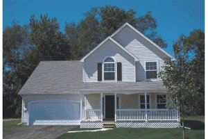 Country Exterior - Front Elevation Plan #20-237