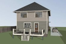 Dream House Plan - Craftsman Exterior - Rear Elevation Plan #79-301