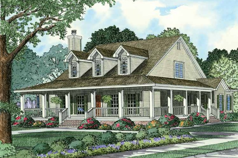 Country Exterior - Front Elevation Plan #17-2791