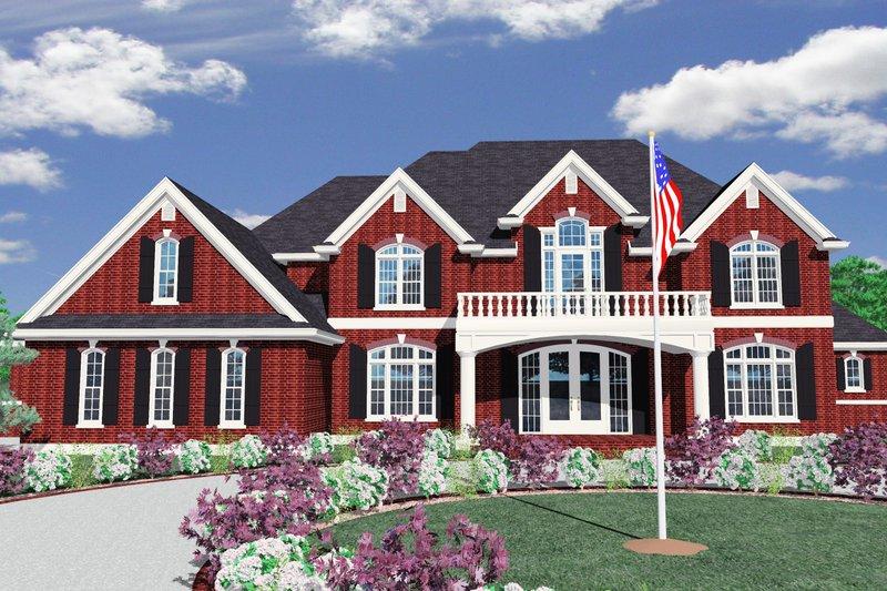 Exterior - Front Elevation Plan #509-69 - Houseplans.com
