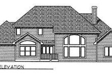 Home Plan - Traditional Exterior - Rear Elevation Plan #70-480