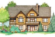 House Plan Design - Craftsman Exterior - Rear Elevation Plan #929-936