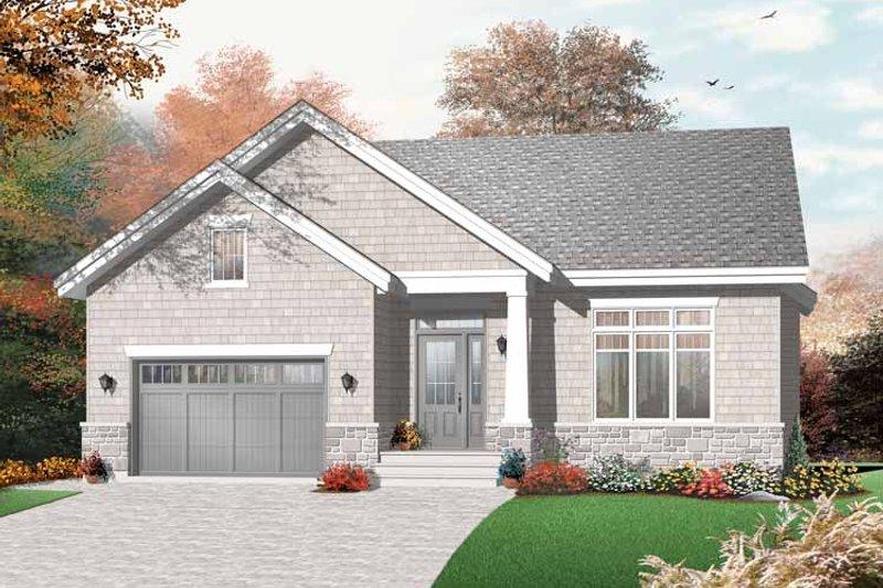 Dream House Plan - Craftsman Exterior - Front Elevation Plan #23-2436
