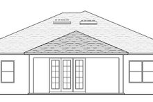Architectural House Design - Traditional Exterior - Rear Elevation Plan #1058-117