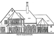 European Exterior - Rear Elevation Plan #20-1731
