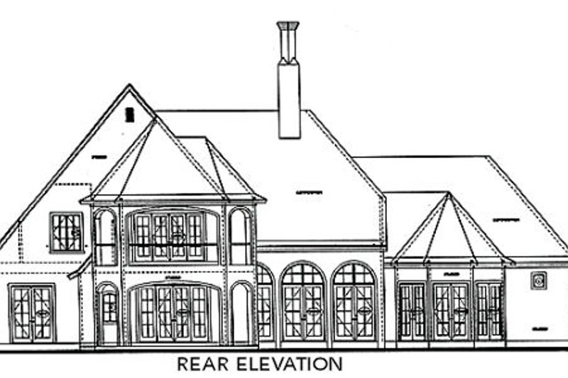 European Exterior - Rear Elevation Plan #20-1731 - Houseplans.com