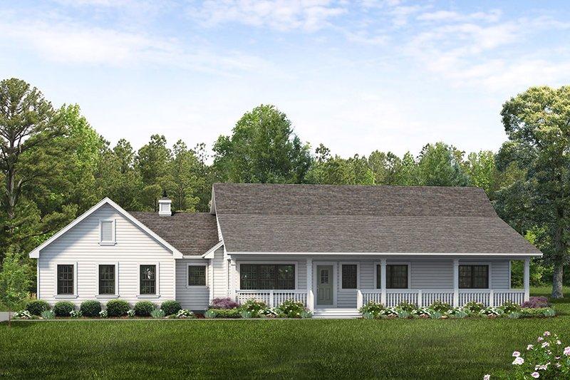 House Blueprint - Ranch Exterior - Front Elevation Plan #47-1023