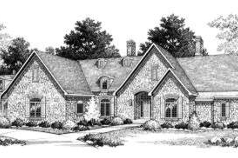 European Exterior - Front Elevation Plan #70-769