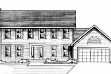 Colonial Exterior - Front Elevation Plan #51-725