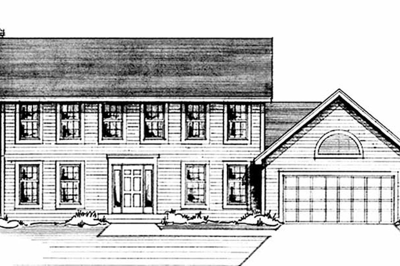 House Plan Design - Colonial Exterior - Front Elevation Plan #51-725