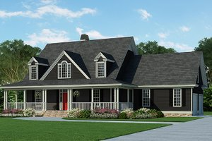 Country Exterior - Front Elevation Plan #929-215