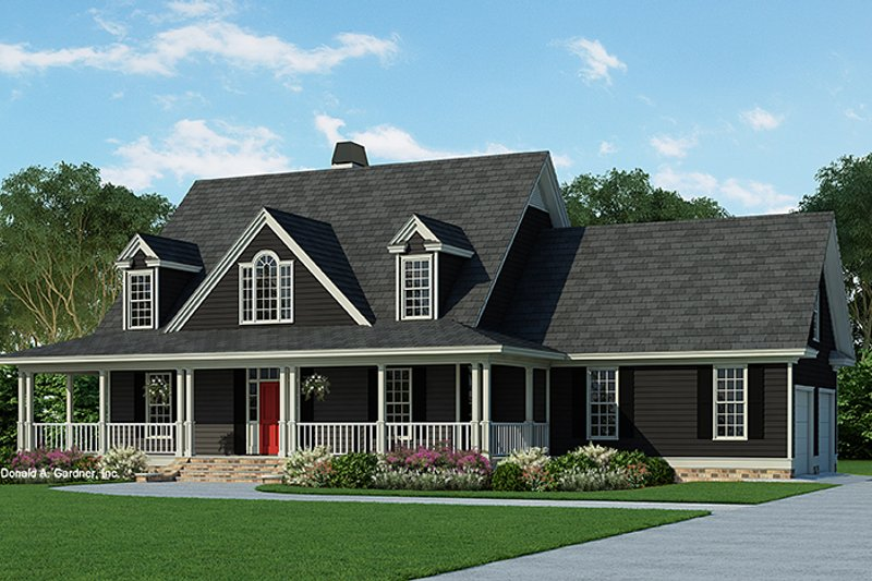 Architectural House Design - Country Exterior - Front Elevation Plan #929-215