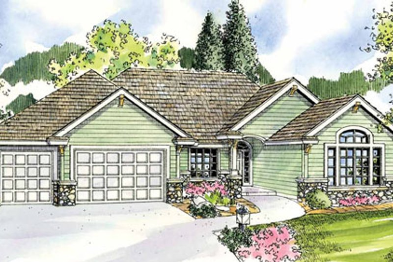 Traditional Exterior - Front Elevation Plan #124-774 - Houseplans.com