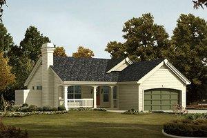 Farmhouse Exterior - Front Elevation Plan #57-383
