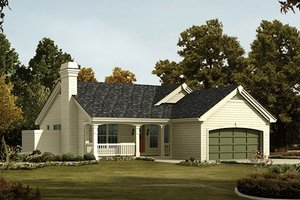 Farmhouse Exterior - Front Elevation Plan #57-383