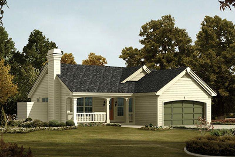 Farmhouse Exterior - Front Elevation Plan #57-383 - Houseplans.com