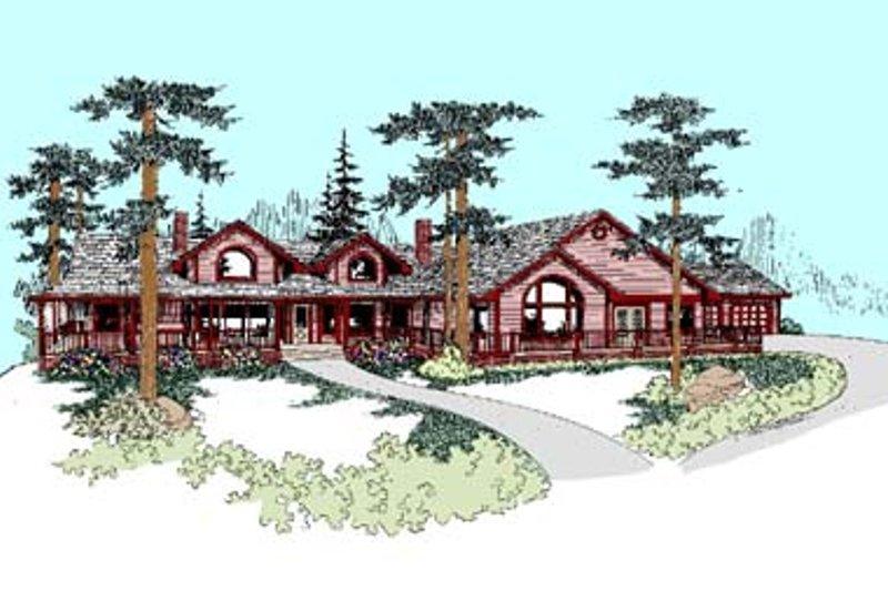 Craftsman Exterior - Front Elevation Plan #60-436