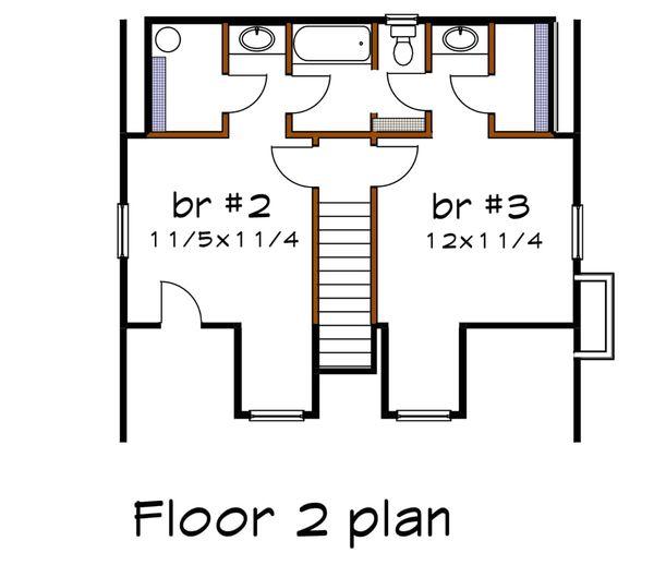 Farmhouse Floor Plan - Upper Floor Plan Plan #79-154