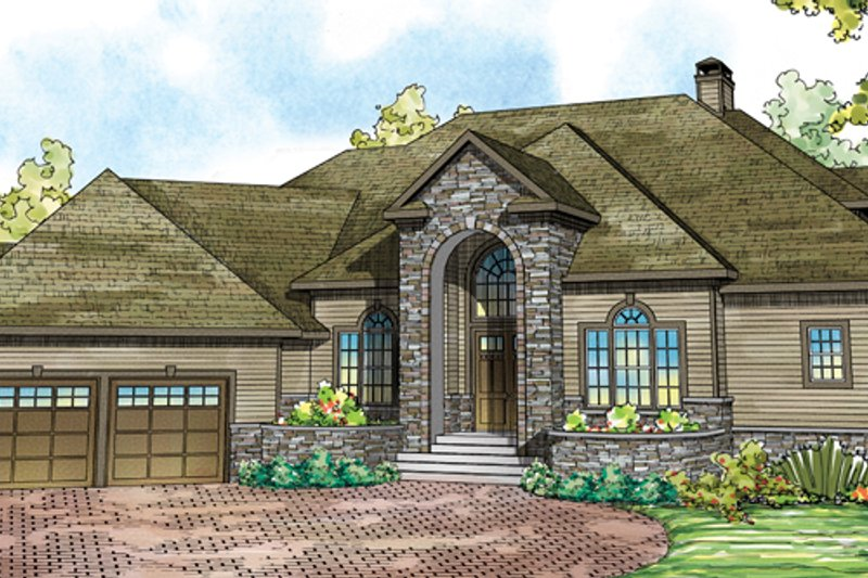Exterior - Front Elevation Plan #124-884