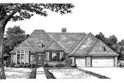 European Style House Plan - 4 Beds 3.5 Baths 2578 Sq/Ft Plan #310-729 Exterior - Front Elevation