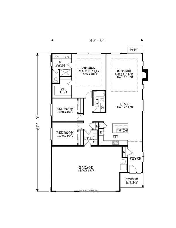 Dream House Plan - Craftsman Floor Plan - Main Floor Plan #53-655