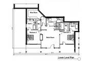 Craftsman Style House Plan - 4 Beds 4.5 Baths 4632 Sq/Ft Plan #451-14 Floor Plan - Lower Floor Plan