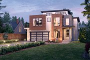 Contemporary Style House Plan - 5 Beds 4 Baths 4329 Sq/Ft Plan #1066-113 Exterior - Front Elevation