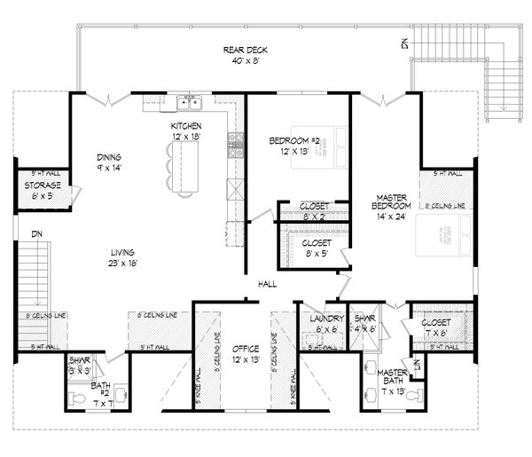 Dream House Plan - Traditional Floor Plan - Upper Floor Plan #932-407