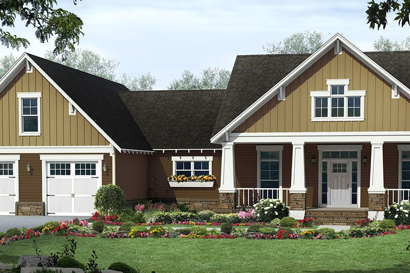 Architectural House Design - Country Exterior - Front Elevation Plan #21-458