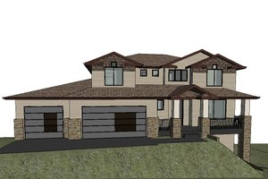Dream House Plan - Modern Exterior - Front Elevation Plan #1066-129