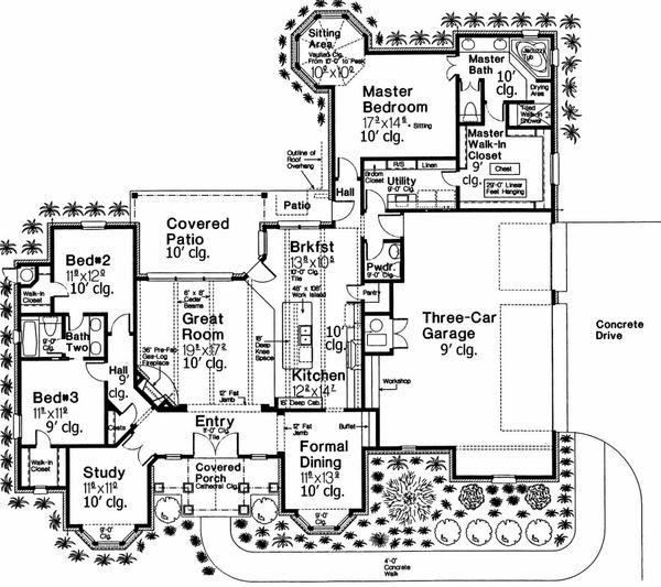 European Floor Plan - Main Floor Plan Plan #310-694