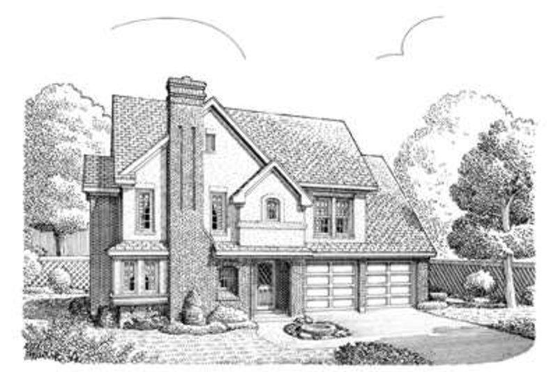 Dream House Plan - European Exterior - Front Elevation Plan #410-372