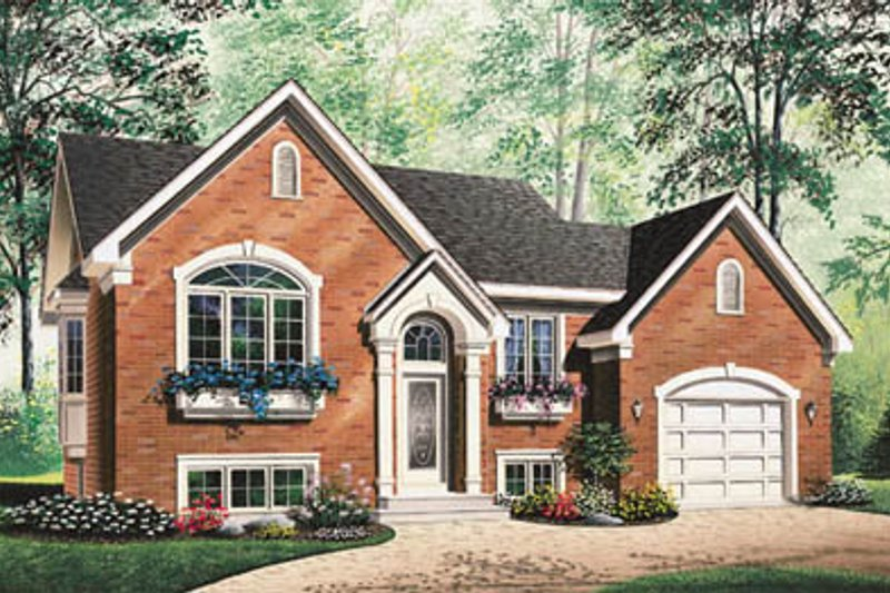European Style House Plan - 2 Beds 1 Baths 1151 Sq/Ft Plan #23-316 Exterior - Front Elevation