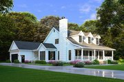 Farmhouse Style House Plan - 4 Beds 2 Baths 2072 Sq/Ft Plan #923-100 Exterior - Front Elevation