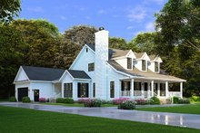 House Plan Design - Farmhouse Exterior - Front Elevation Plan #923-100