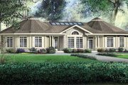 European Style House Plan - 4 Beds 2.5 Baths 3341 Sq/Ft Plan #25-4123 Exterior - Front Elevation