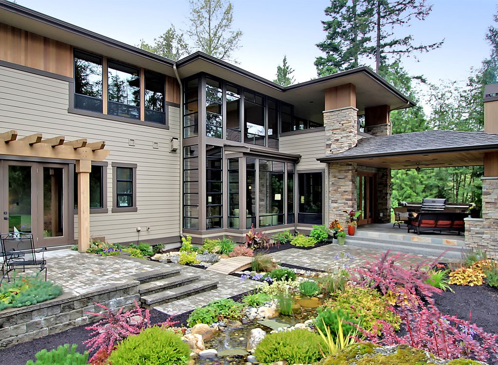 Modern style house plan 4 beds 4 5 baths 4750 sq ft plan for Www homeplans com