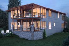 House Plan Design - Contemporary Exterior - Rear Elevation Plan #1066-54