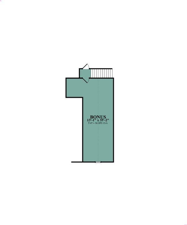 Craftsman Floor Plan - Upper Floor Plan Plan #63-423
