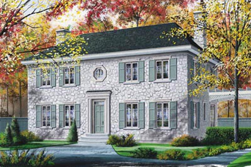 Colonial Exterior - Front Elevation Plan #23-2111 - Houseplans.com