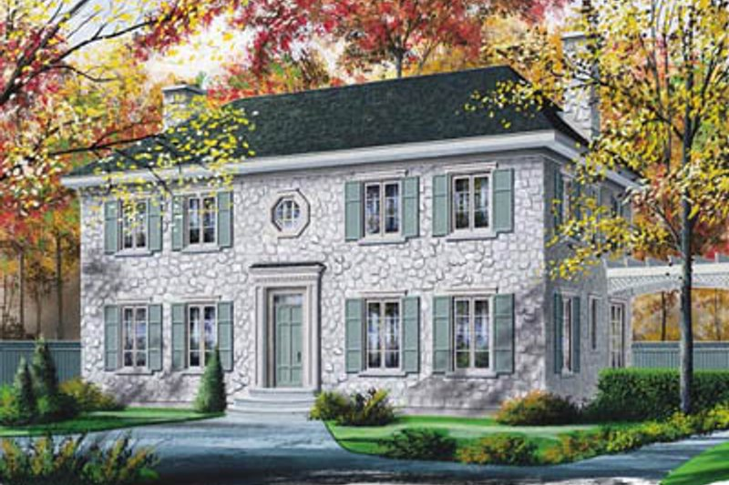 Colonial Exterior - Front Elevation Plan #23-2111
