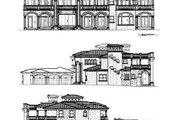Mediterranean Style House Plan - 5 Beds 8.5 Baths 7893 Sq/Ft Plan #420-198 Exterior - Rear Elevation