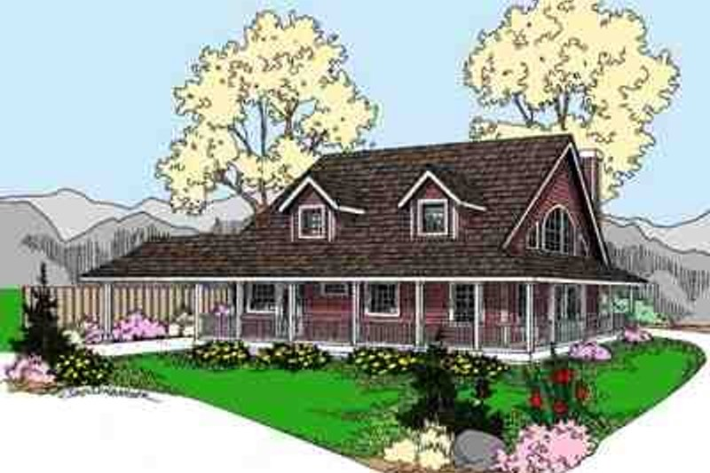 Country Exterior - Front Elevation Plan #60-617 - Houseplans.com