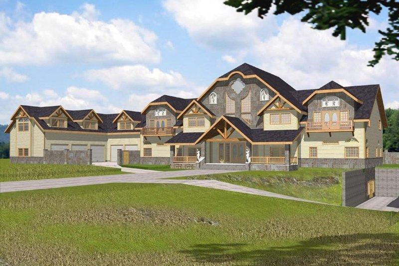 Home Plan - European Exterior - Front Elevation Plan #117-168