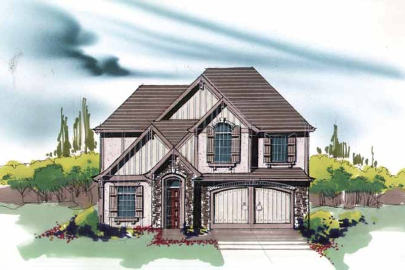 Traditional Exterior - Front Elevation Plan #509-343