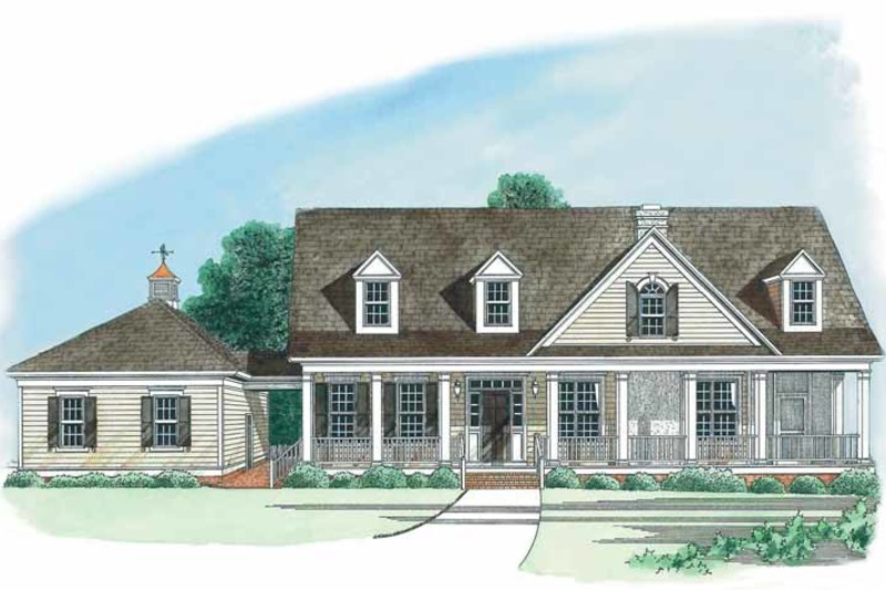 Country Exterior - Front Elevation Plan #1054-1 - Houseplans.com